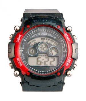 Buy Style Feather Black Rubber Digital Kid's Watch online