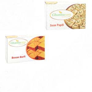 Buy Mithai Hampers - Soan Papdi And Besan Barfi online
