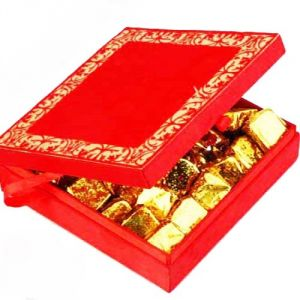 Buy Diwali Chocolate-red Satin Box online