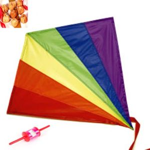 Buy Lohri Gifts - Rainbow Foldable Kite online