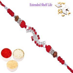Buy Rakhis Online Usa - D-9147 Diamond Rakhi online