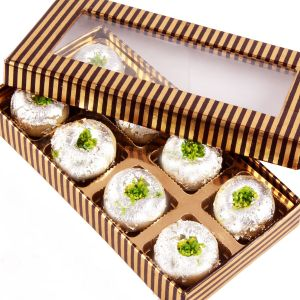 Buy Sweet - Sugarfree Gold And Brown Kaju Peda Box online