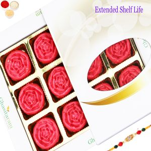 Buy Rakhi Gifts Sweets Sugarfree Strawberry Roses 12 PCs White Box-350 Gms online
