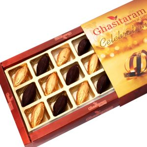 Buy Chocolate-whole Roasted Almond Chocolate Box (18 Pcs) online
