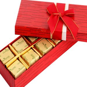 Buy Chocolates - Red Bow Mixed Nuts Chocolate Box online