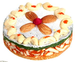 Buy Sweets-ghasitarams Orange Dryfruit Mithai Cake online