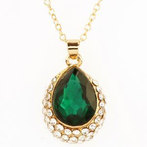 Buy Green Stone Diamond Pendant online