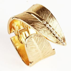 Buy Bracelets - Gold Broad Leaf Band online