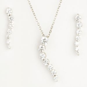 Buy Long Diamond Pendant Set online
