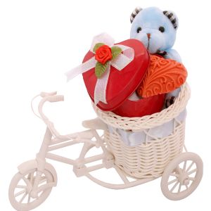 Buy Chocolates-teddy Carrying A Chocolate Heart online