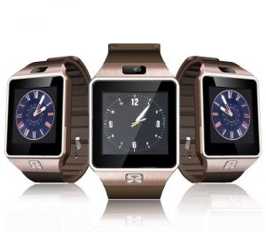 Buy Snaptic Dz09 Bluetooth Sim Enabled GSM Smart Watch - Rose Gold online