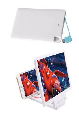 Buy Samsung OEM 2500mah Credit Card Powerbank And 3d HD Mobile Screen Magnifier online