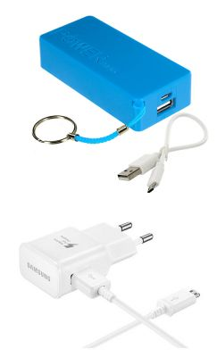Buy Snaptic 5600mah Blue Powerbank With Samsung OEM Adaptive Fast Charger online