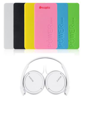 Buy 5600mah Universal Powerbank With OEM Sony Mdr Sh-022 Headphones With Mic online
