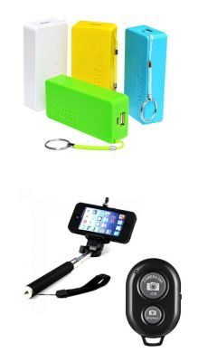 Universal 5600 MAH Power Bank With Selfie Stick With Bluetooth Remote