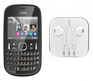 Buy Hi Definition Stereo Earphones With Mic For Nokia Asha 201 online