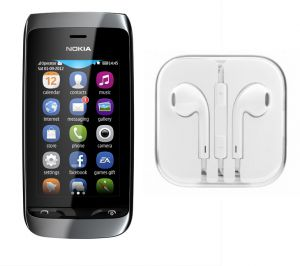Buy Hi Definition Stereo Earphones With Mic For Nokia Asha 305 online