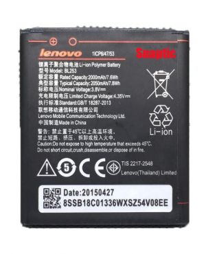 Buy Lenovo A2010/lenovo A1000 Li Ion Polymer Replacement Battery Bl-253 By Snaptic online