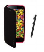 Buy Koloredge Flipcover Plus Stylus Pen For Gionee Elife E3 - Black online