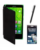 Buy Koloredge Flip Cover Plus Stylus Pen Plus Screen Protector For Nokia Xl - Black online