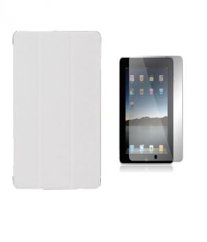 Buy Premium 3 Fold White Flip Cover For Apple Ipad Air 2 With Ultra HD Screen Guard online