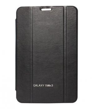Buy Premium 3 Fold Black Flip Cover For Samsung Galaxy Tab 3 7.0 P3200/p3210 online