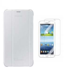 Buy Premium 3 Fold White Flip Cover For Samsung Galaxy Tab 3 8.0 Sm-t310/sm-t311/sm-t315 With Ultra HD Screen Guard online