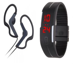 Buy Samsung OEM Bg-201 Sport Stereo Earphones With Mic And LED Jelly Watch online