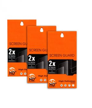 Buy Ultra HD 0.2mm Screen Protector Scratch Guard For Micromax Canvas Fun A63 (set Of 3) online