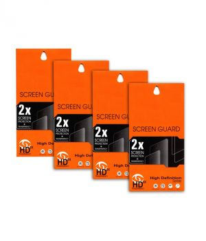 Buy Ultra HD 0.2mm Screen Protector Scratch Guard For Micromax Canvas Fun A63 (set Of 4) online