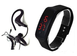Buy Samsung OEM Super Bass Sports In Ear Headphones With Mic & LED Sports Watch online