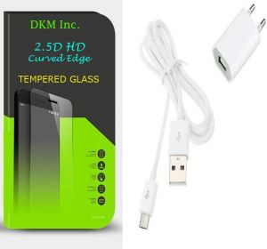 Buy Snaptic 2.5d Curved EDGE HD Tempered Glass And USB Travel Charger For Micromax Canvas 5 E481 online