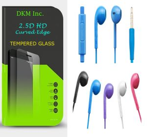 Buy Snaptic 2.5d Curved EDGE HD Tempered Glass And Noise Cancellation Earphones With Mic For Lava A72 online
