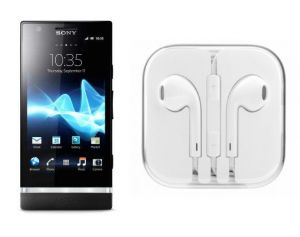 Buy Hi Definition Stereo Earphones With Mic For Sony Xperia P Lt22i online