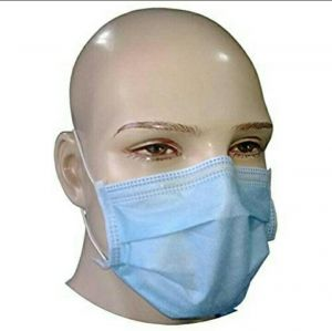 Buy 3 Ply Non-woven Three Layer Anti Pollutant & Anti-virus Surgical Disposable Face Mask Without Nose Pin online