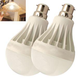 Buy Set Of 2pcs 7w High Power LED Bulb For Pure, White, Cool, Safe Light - 06 online