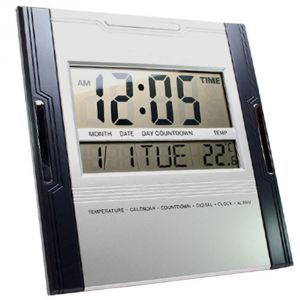 Buy DIGITAL LCD ALARM CALENDAR THERMOMETER TABLE DESK CLOCK TIMER STOPWATCH online