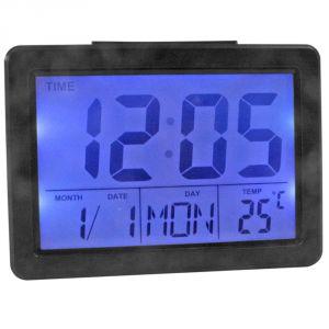 Buy Voice Control Sound Sensor Calendar Alarm Table Clock Thermometer Timer-193 online