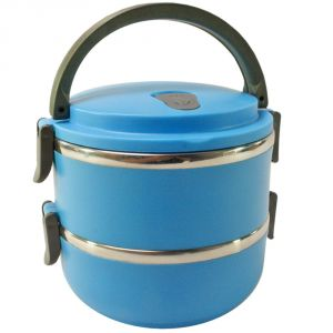 0b113d8b5b2 Buy 2 Container Thermos Insulated Hot Lunch Tiffin Dabba Box Home Picnic  online