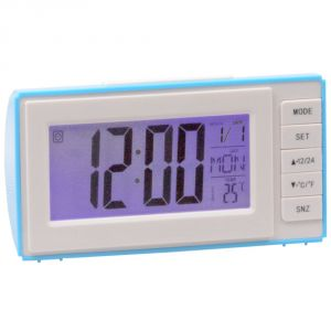 Buy Voice Control Sound Sensor Calendar Alarm Table Clock Thermometer Time online