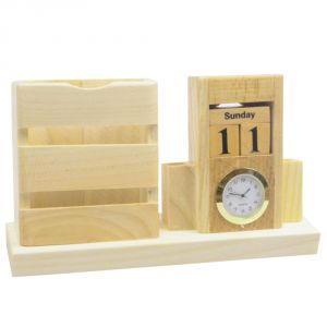 Buy Exclusive Fashionable Table Wall Desk Clock Watches No Alarm & Pen Holder online