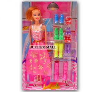 Buy Barbie Doll Set With Beautiful Trendy Dresses Kids Toys Toy Baby Gift -69 online