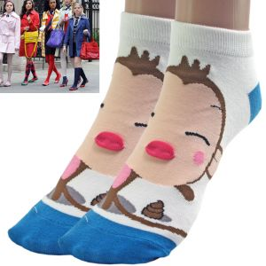 Buy 1 Pair Mixed Cotton Unisex Ankle Socks For Women's Ladies - L45 online