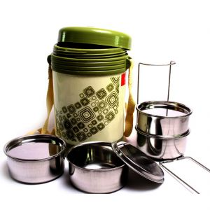 Buy 4 Container Milton Insulated Hot Lunch Pack Tiffin Dabba Box Home Picnic online