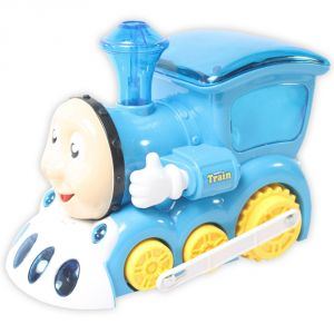 buy funny 3d light train engine light sound battery operated toy