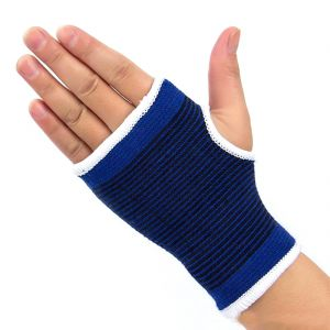 Buy Neoprene Palm Support Wrist Protection Fingerless Sports Gloves Gym online