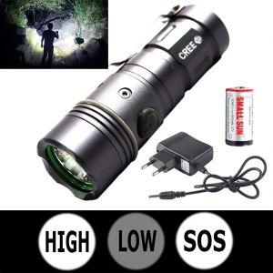 Buy Mini 3 Mode Rechargeable 250m Cree LED Waterproof Flashlight Light Torch (code - Jm Tr Ch 48) online