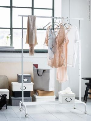 Buy Rigga Clothes Rack Single Pole Telescopic Clothes Rack Clothes Dryer. online