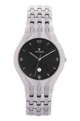 Buy Titan - 1406sca Men's Watch Silver Metal online