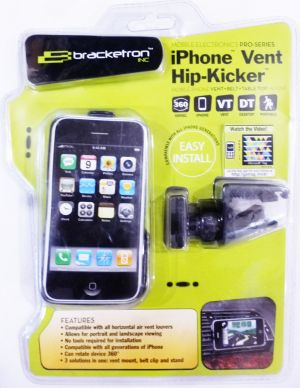 Buy Bracketron Ipm218bl Hip-kicker Universal iPhone Vent Mount Holder online